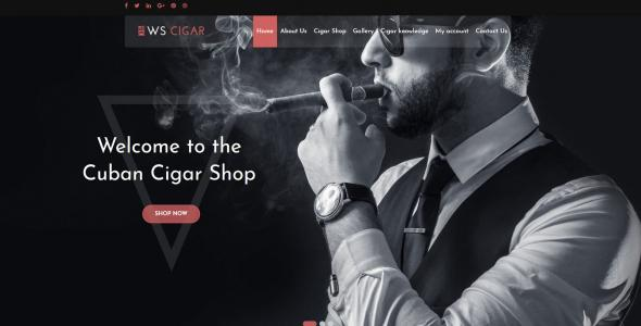 WS Cigar Special Cigar Shop Woocommerce WordPress theme
